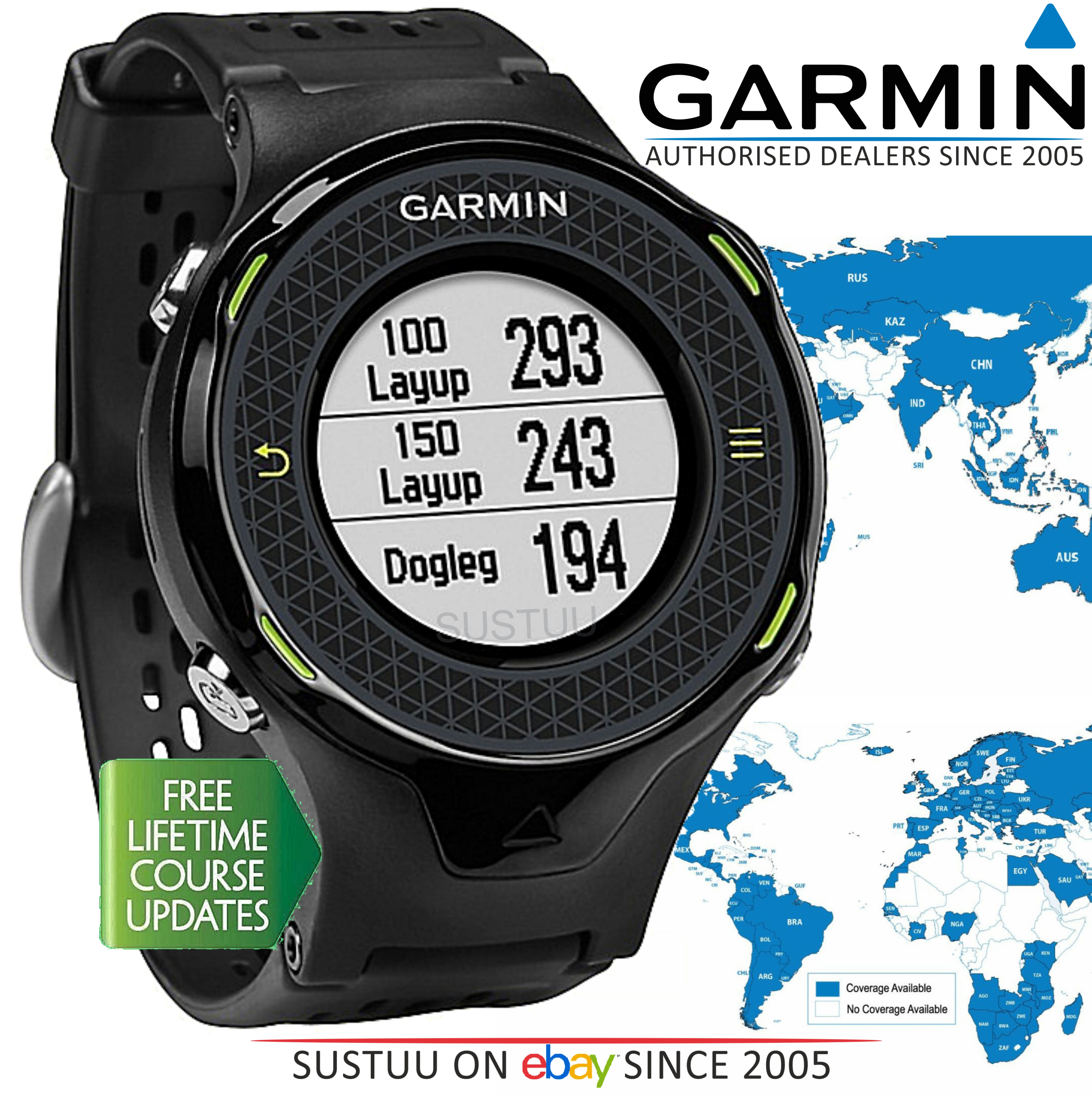 Garmin Approach S4|Golf GPS Rangefinder Watch|Black|38000 Worldwide Golf Courses