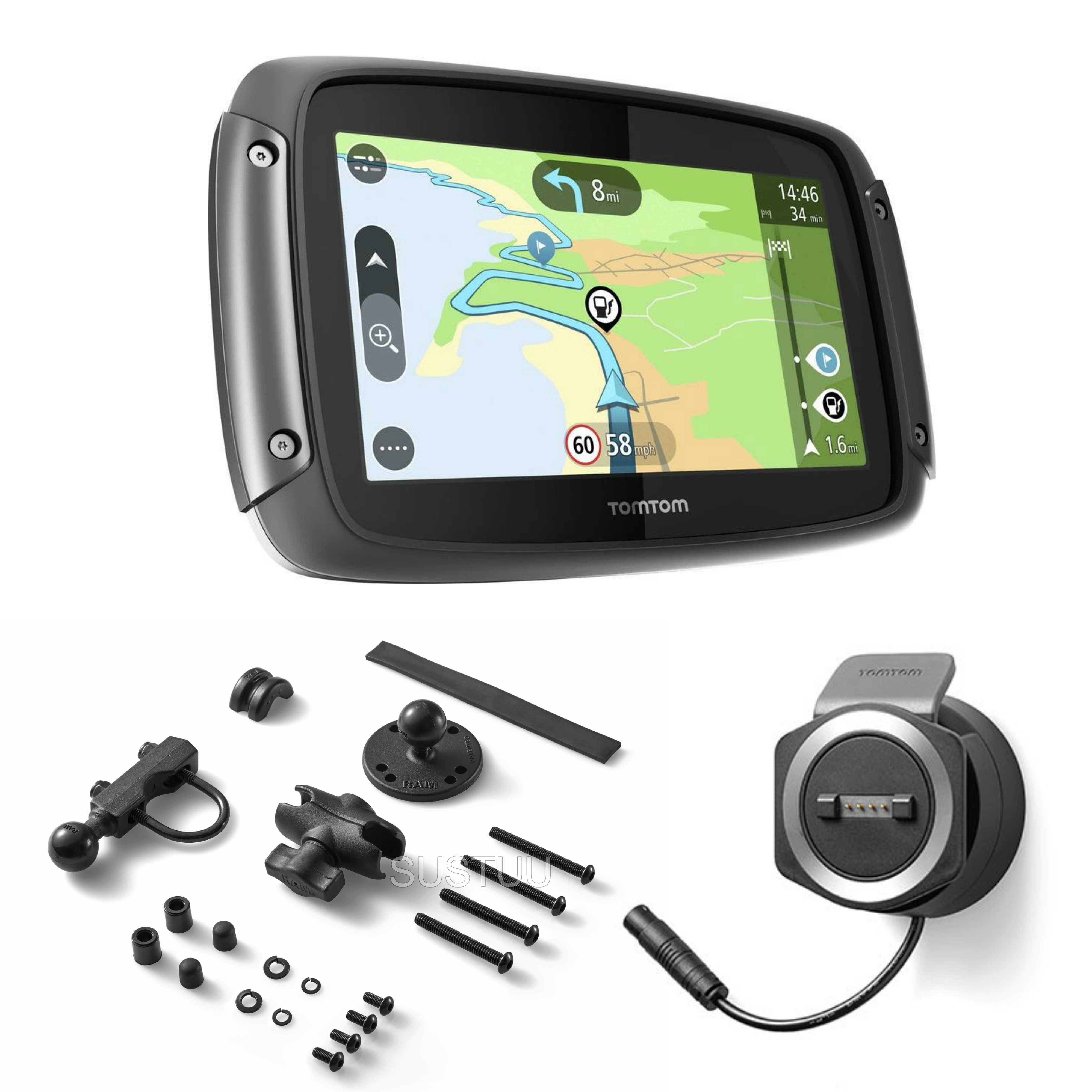 tomtom rider 420 motorcycle gps satnav lifetime uk europe maps traffic updates 636926090223 ebay. Black Bedroom Furniture Sets. Home Design Ideas