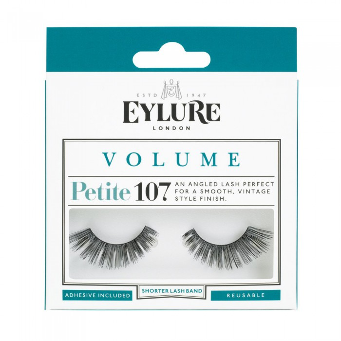 Eylure Petite Volume 107 Ladies Adhesive Reusable Easy Apply False Eyelashers