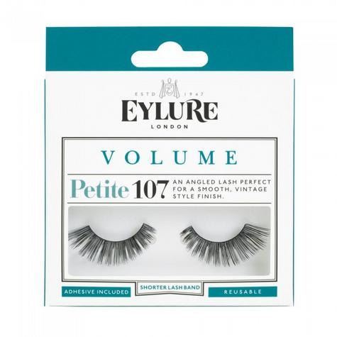 Eylure Petite Volume 107 Ladies Adhesive Reusable Easy Apply False Eyelashers Thumbnail 1