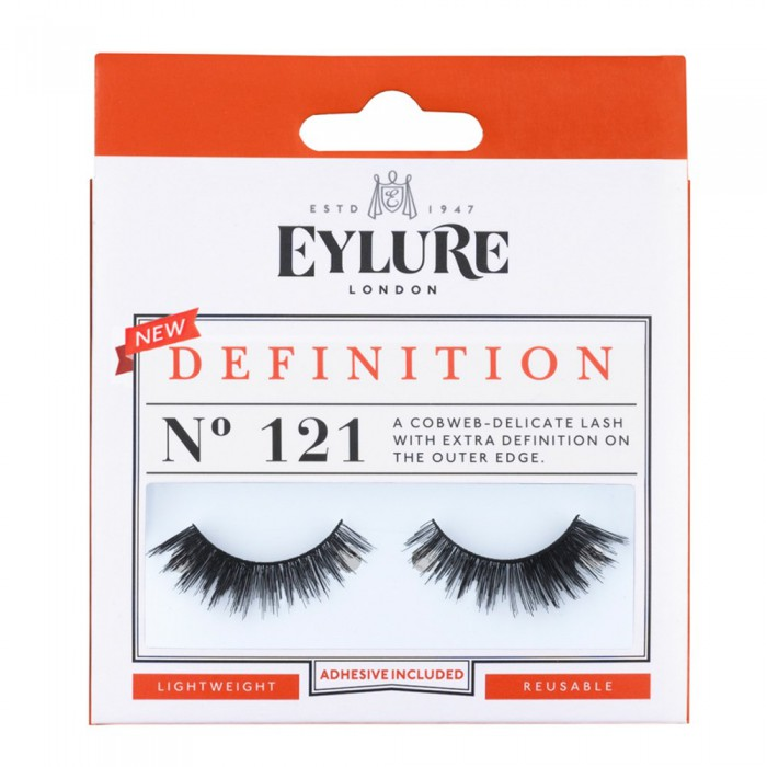 Eylure Definition 121 Ladies Adhesive Reusable Easy Apply False Strip Eyelashers