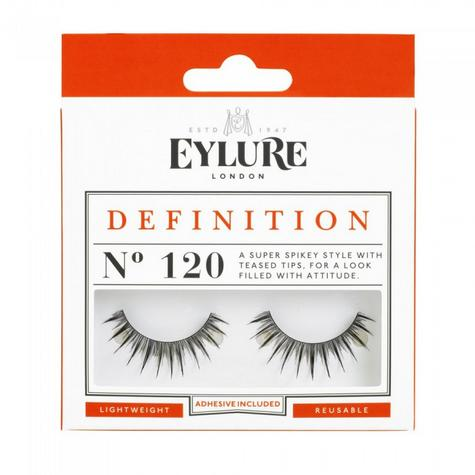 Eylure Definition 120 Ladies Adhesive Reusable Easy Apply False Strip Eyelashers Thumbnail 1