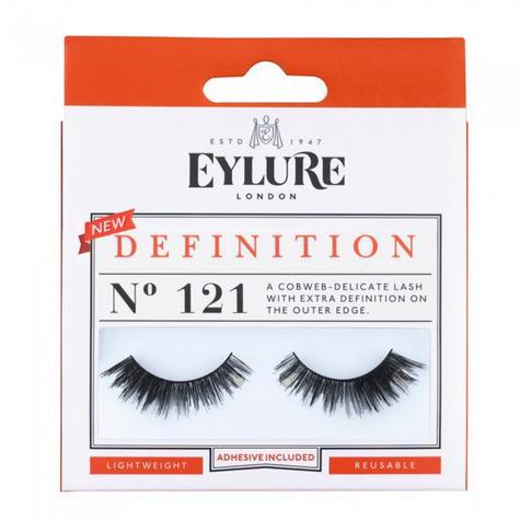 Eylure Definition 121 Ladies Adhesive Reusable Easy Apply False Strip Eyelashers Thumbnail 1