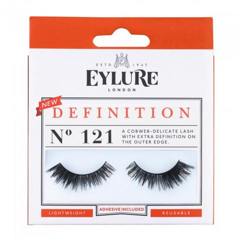 Eylure Extra Definition 121 Ladies Adhesive Reusable Easy Apply False Eyelashers Thumbnail 1