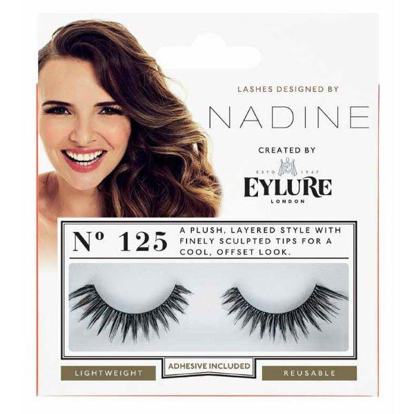 Eylure Nadine Definition 125 Ladies Adhesive Reusable Easy Apply False Eyelasher