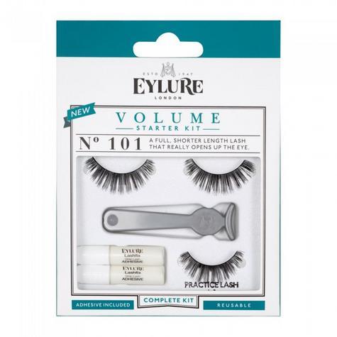 Eylure Volume 101 Ladies Adhesive Reusable Starter Kit False Eyelashers Thumbnail 1