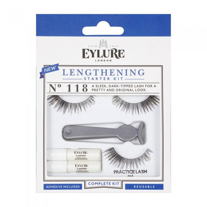 Eylure Length Lashes 118 Ladies Adhesive Reusable Starter kit False Eyelashers