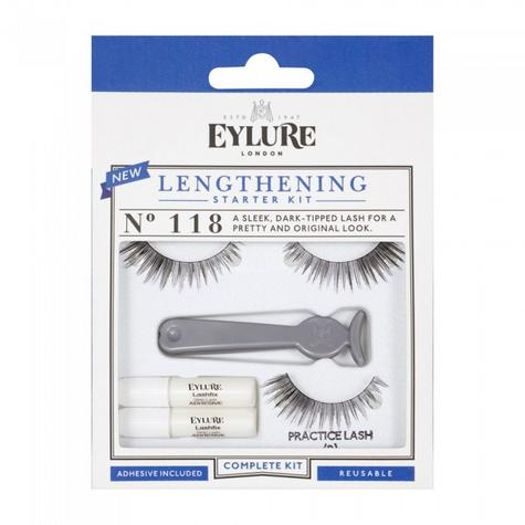 Eylure Length Lashes 118 Ladies Adhesive Reusable Starter kit False Eyelashers Thumbnail 2