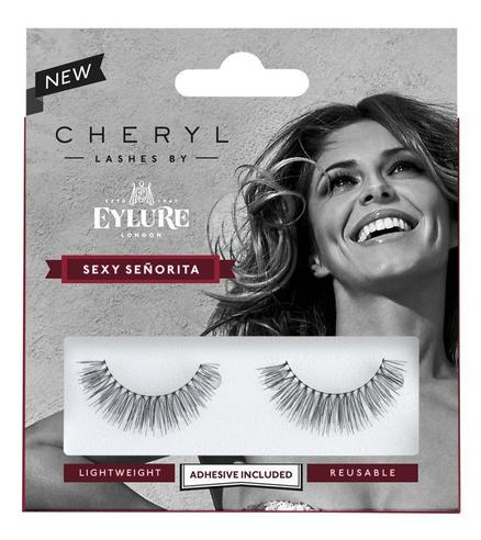 Cheryl Lashes by Eylure Sexy Seniorita Ladies Adhesive Easy Reusable Eyelashers Thumbnail 2