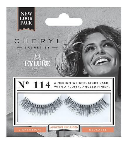 Cheryl Length Lashes by Eylure 114 Ladies Adhesive Easy Reusable Eyelashers Thumbnail 1