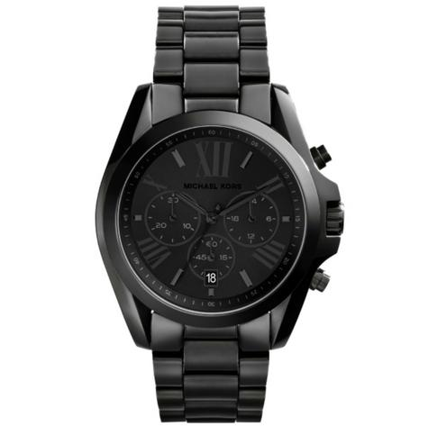 Michael Kors Bradshaw All Black Bracelet Chronograph Unisex Wrist Watch MK5550 Thumbnail 1
