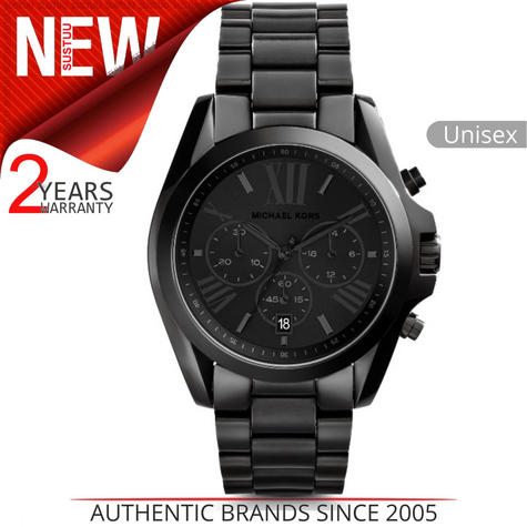 Michael Kors Bradshaw Unisex Watch|Black Chronograph Dial|Bracelet Band|MK5550 Thumbnail 1