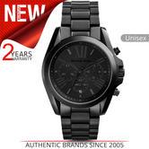 Michael Kors Bradshaw Unisex Watch|Black Chronograph Dial|Bracelet Band|MK5550