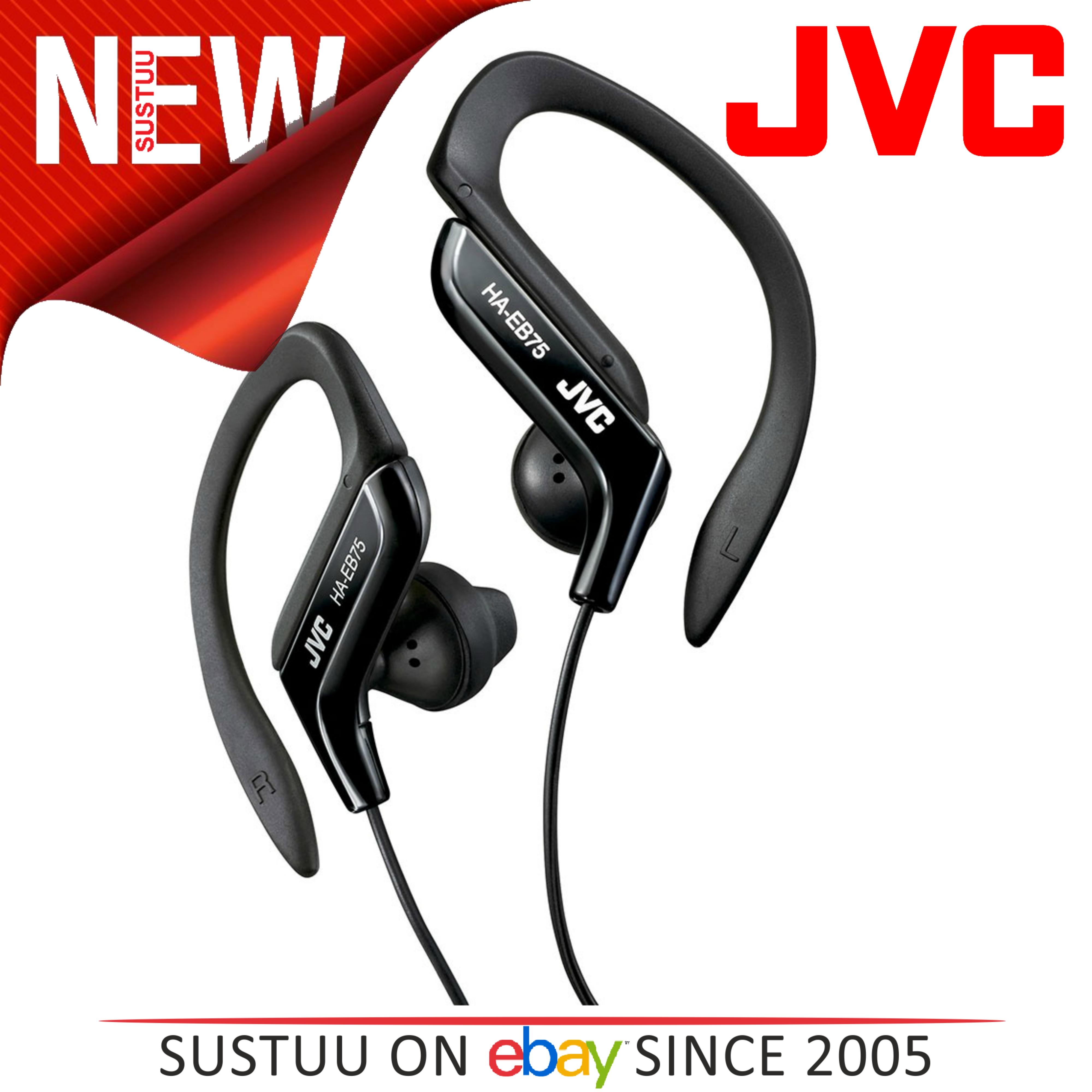 JVC HAEB75B Gym Jogging Running Splash Sweat Proof Adjustable Ear Clip Earphones