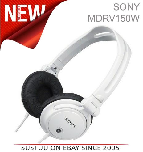 SONY MDR-V150 DJ Headphones for iPod/iPhone/iPad/MP3 Android & Smartphones WHITE Thumbnail 1