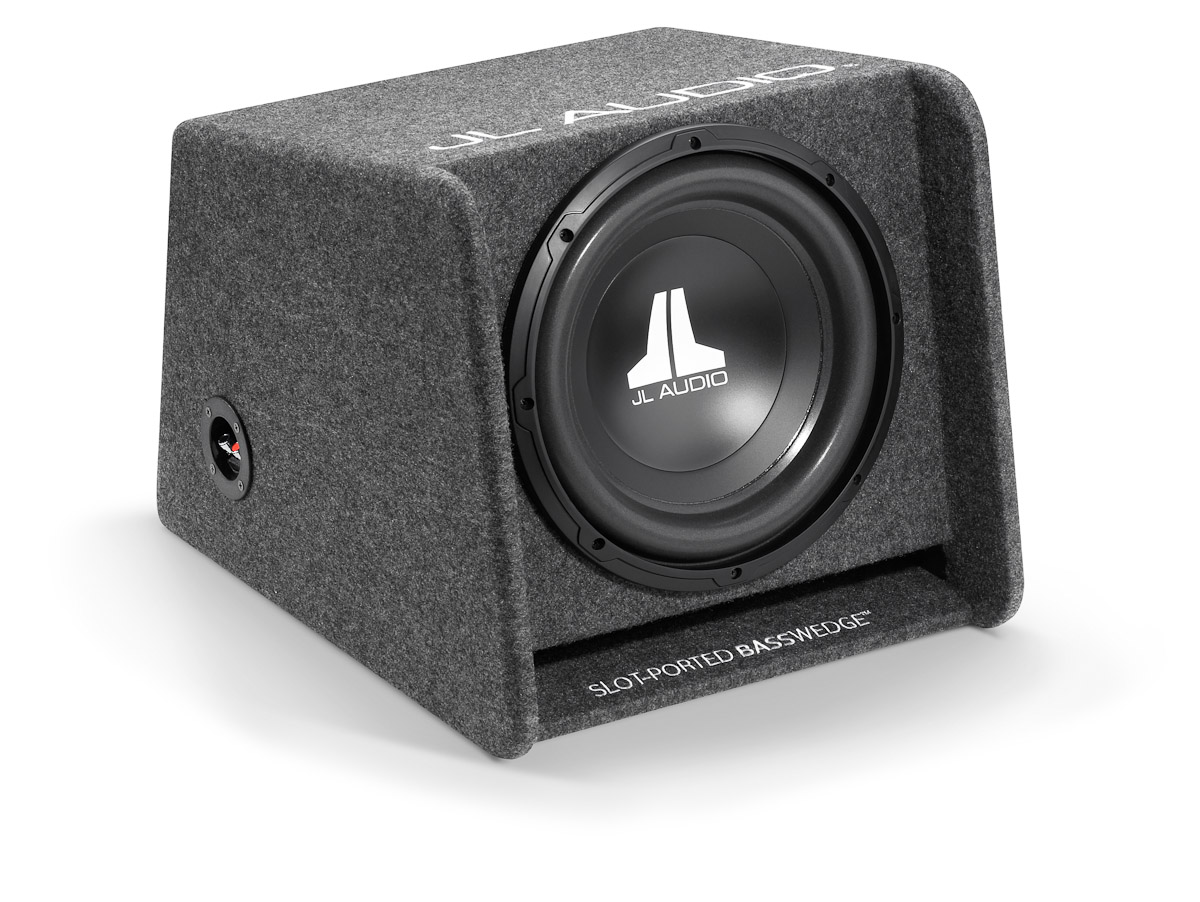 "JL AUDIO CP112 W0 V3 Single Ported Car Subwoofer Bass Box?12"" & 300W?Gray Carpet"