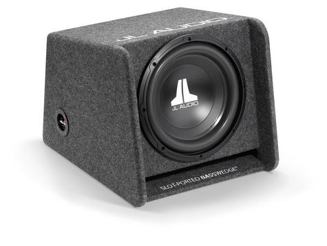 "JL AUDIO CP112 W0 V3 Single Ported Car Subwoofer Bass Box?12"" & 300W?Gray Carpet Thumbnail 1"