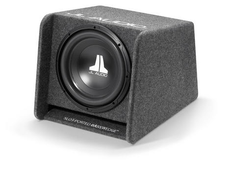 "JL AUDIO CP112 W0 V3 Single Ported Car Subwoofer Bass Box?12"" & 300W?Gray Carpet Thumbnail 4"