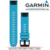 Garmin 010-12496-04?Quickfit 22Flame Watch Band?Approach S60/Fenix5?BlueSilicone