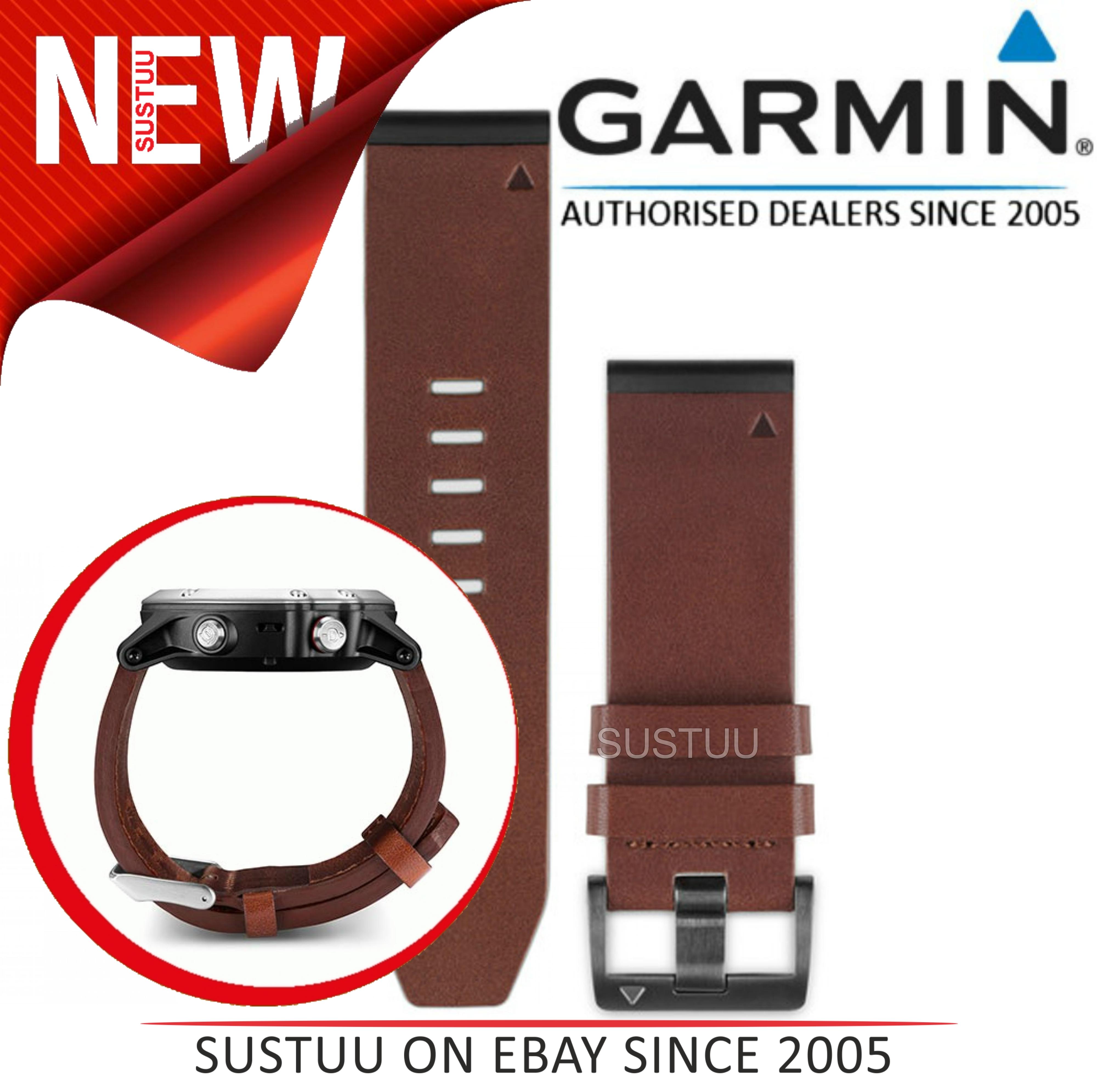 Garmin 010-12496-05|Quickfit BandStrap|Lth-Brown|ApproachS60-Fenix5-R935-Quatix5