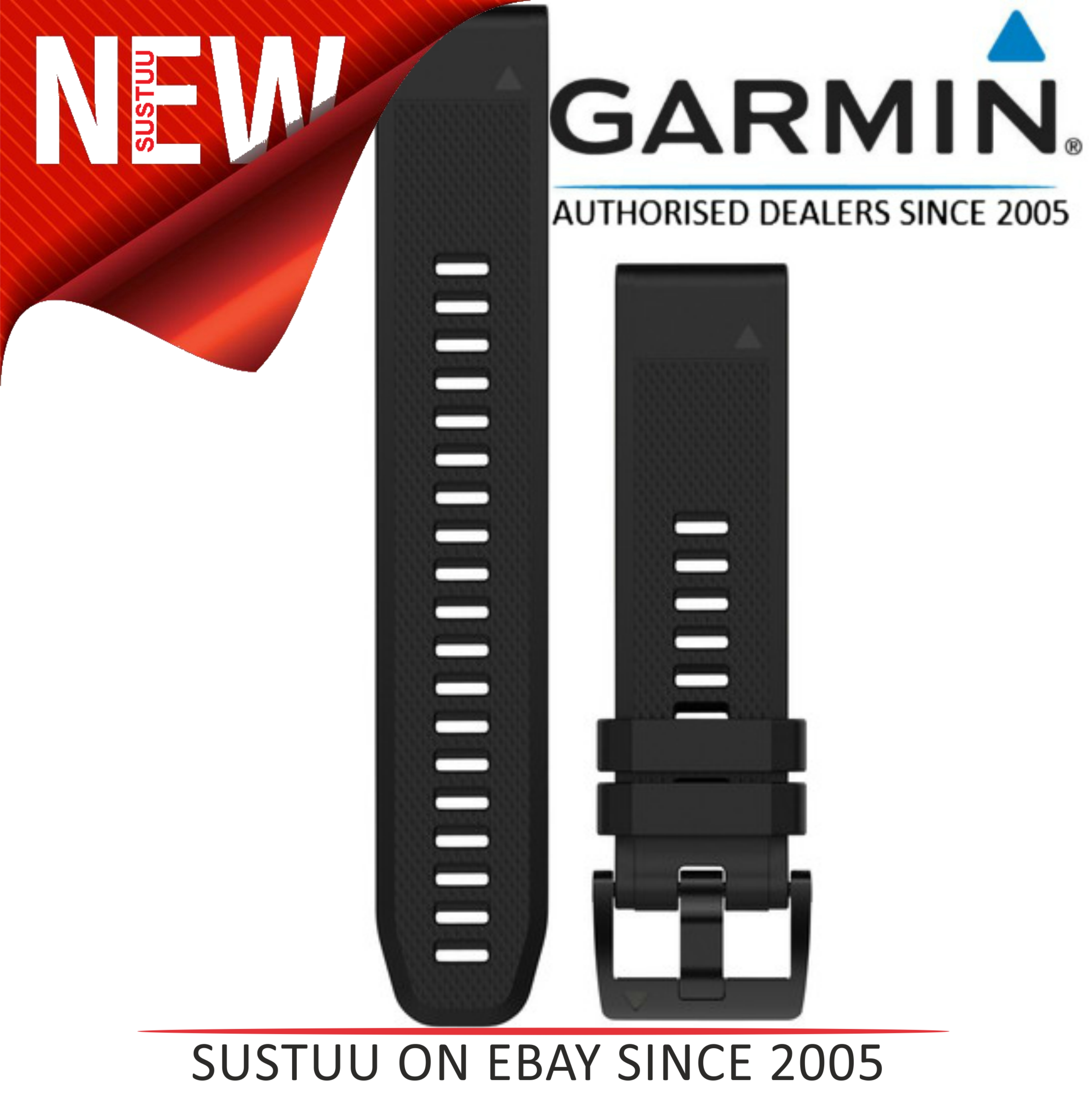 Garmin QuickFit Interchangable Watch Strap Band|20mm|For Fenix 5s|Silicon-Black