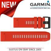 Garmin Quickfit 26mm Watch Strap/ Band?Fenix 3 Sapphire-Sapphire HR?Red Silicone