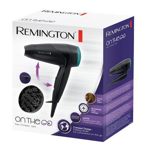Remington World Voltage Compact Travel Hair Dryer Diffuser Folding Handle 2000W Thumbnail 4
