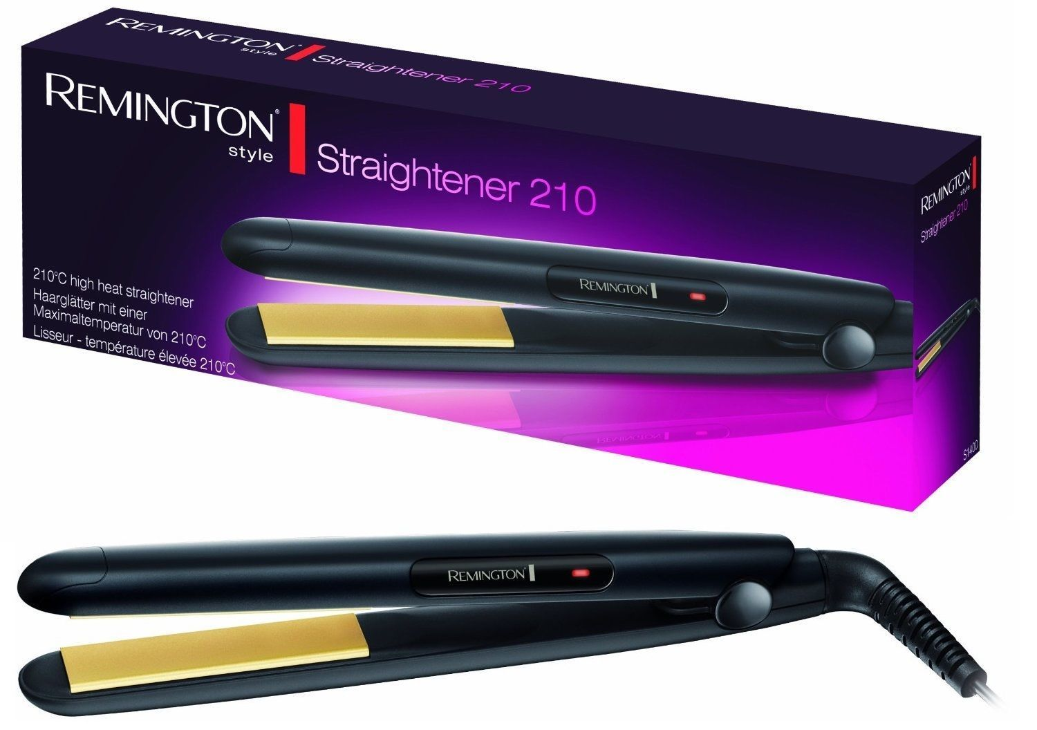 Remington Professional Ceramic Plates 210 Hair Straightener Worldwide Voltage