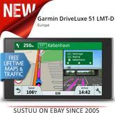 Garmin DriveLuxe 51 LMT-D GPS Satnav FREE LIFETIME Europe Maps & Traffic Updates