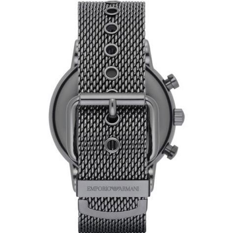 Emporio Armani Luigi Men's Gunmetal Mesh Steel Strap Chronograph Watch AR1979 Thumbnail 3