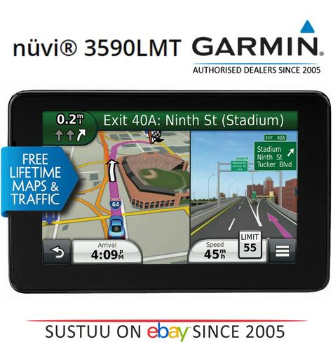 Garmin Nuvi 3590LMT|GPS SatNav|Voice Reco.|*Lifetime UK Europe Maps + 3D Traffic Thumbnail 1