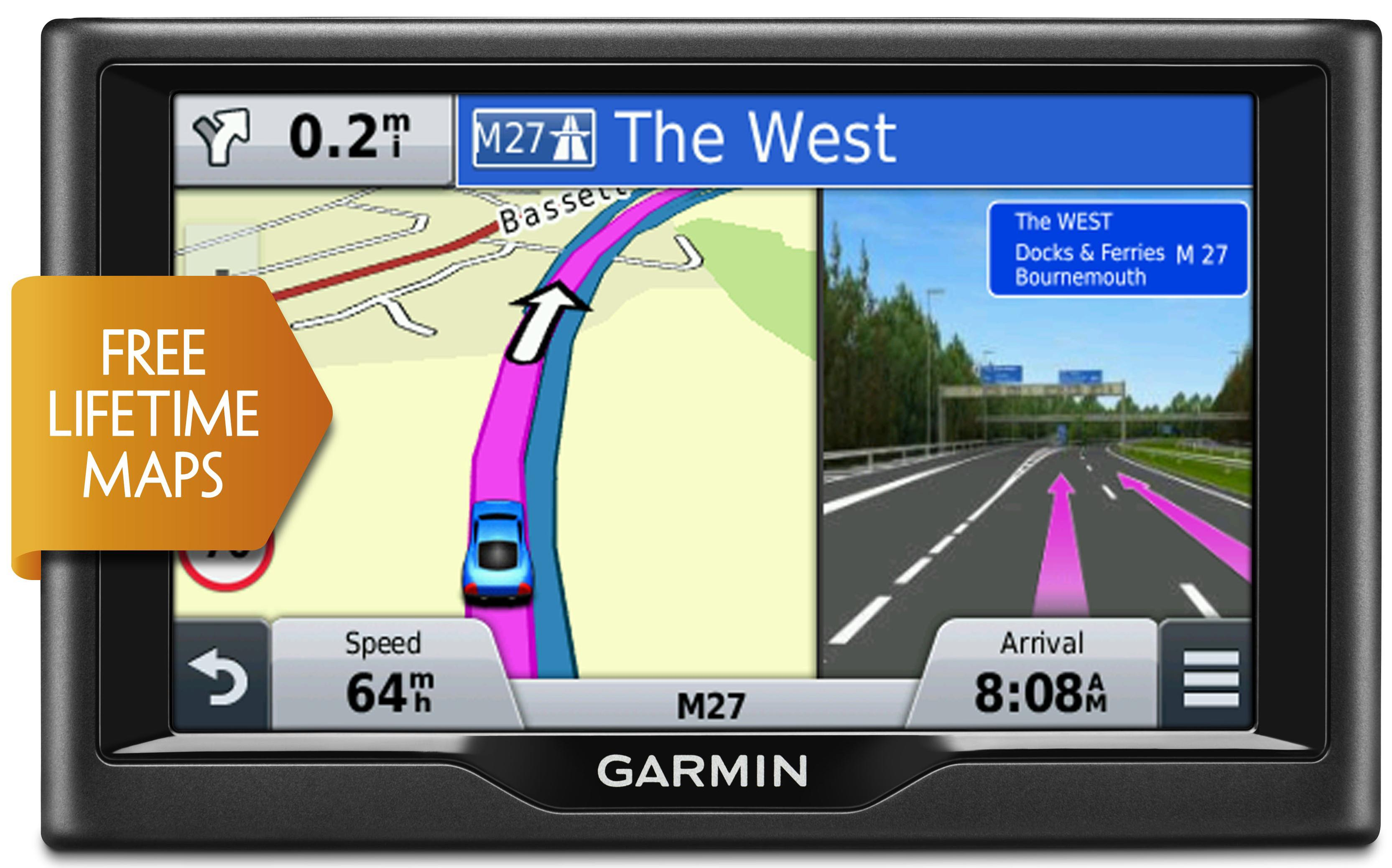 Garmin Nuvi Lm  Car Gps Satnav Free Lifetime Uk Europe Maps Update