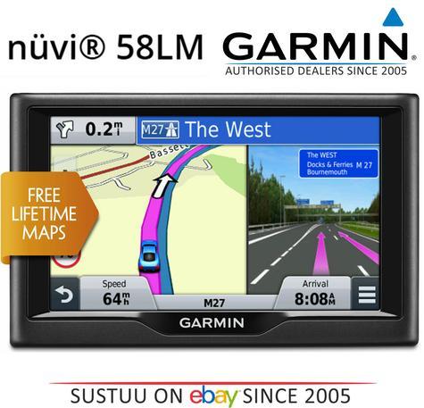 "Garmin Nuvi 58LM EU?5"" In Car GPS SATNAV | Free LifeTime UK Europe Maps Updates Thumbnail 1"