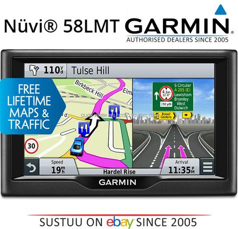 "Garmin Nuvi 58LMT|5"" Car GPS SatNav|Free LifeTime UK Europe Maps+Traffic Updates Thumbnail 1"