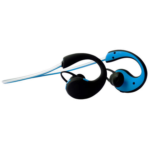 Groov-e GVBT800BE Action Wireless Bluetooth Sports Headphones/LED Neckband/Blue Thumbnail 3