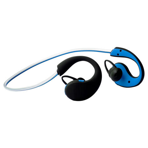 Groov-e GVBT800BE Action Wireless Bluetooth Sports Headphones/LED Neckband/Blue Thumbnail 5