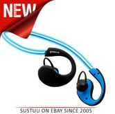 Groov-e GVBT800BE Action Wireless Bluetooth Sports Headphones/LED Neckband/Blue