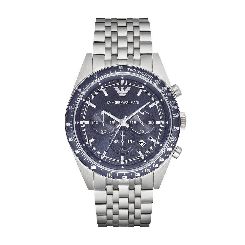 Emporio Armani Sportivo Gent's Stainless Steel Tazio Chronograph Watch AR6072