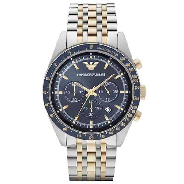 Emporio Armani Tazio Gent's Stainless Steel Two Tone Chronograph Watch AR6088