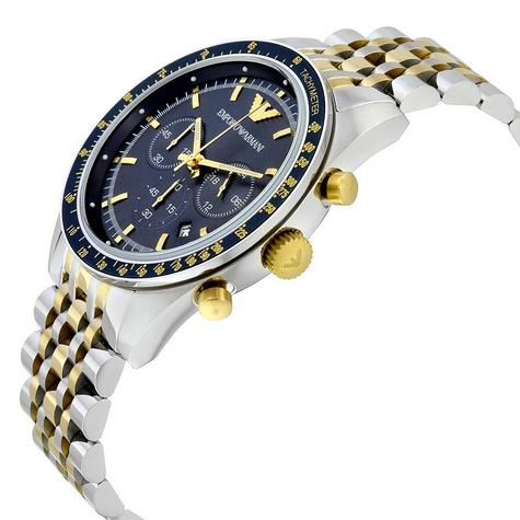 Emporio Armani Tazio Gent's Stainless Steel Two Tone Chronograph Watch AR6088 Thumbnail 4
