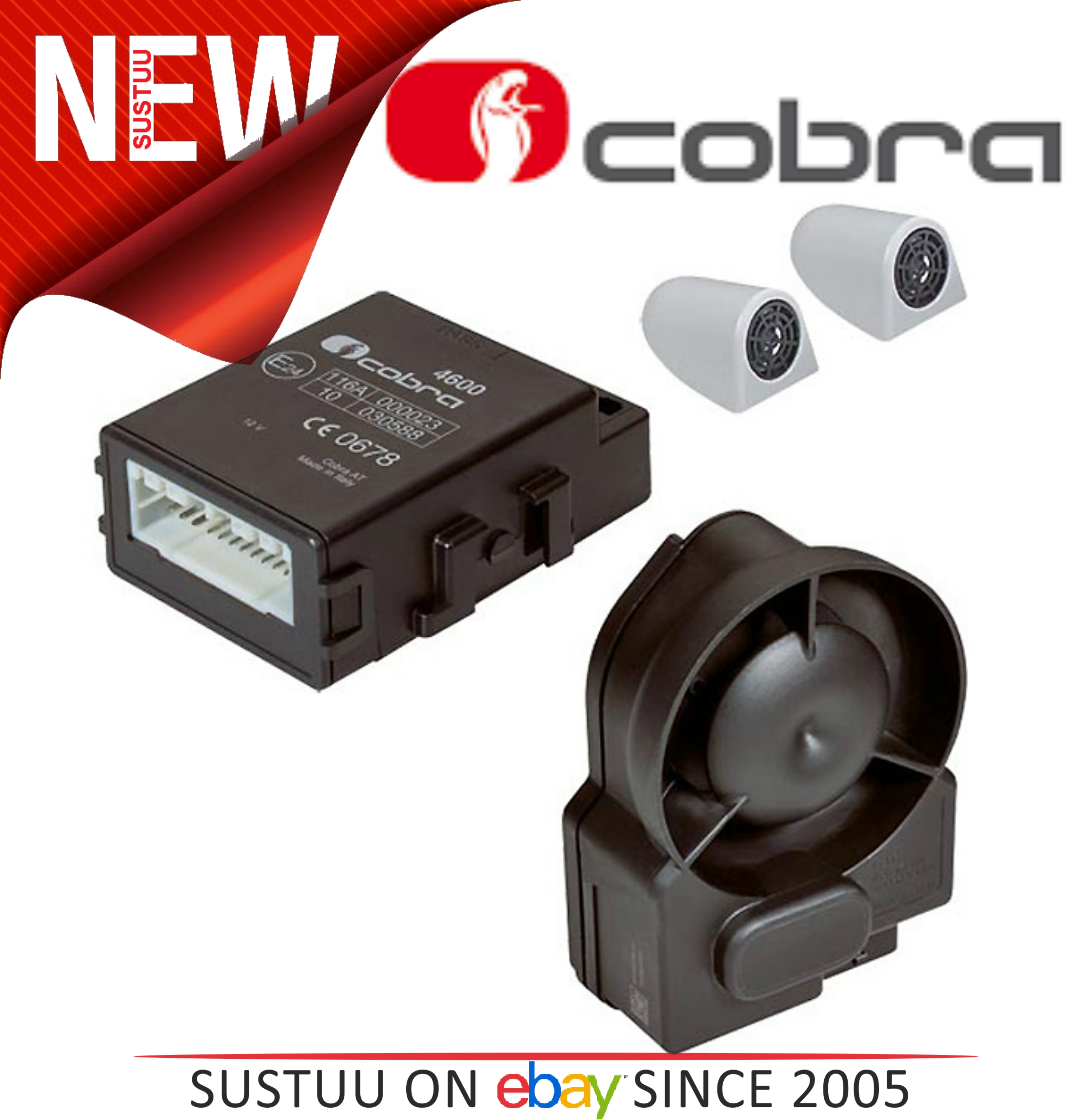 Cobra A4615 P2DC Thatcham Cat 2-1 Wireless Canbus Alarm System With 2 ADR Cards