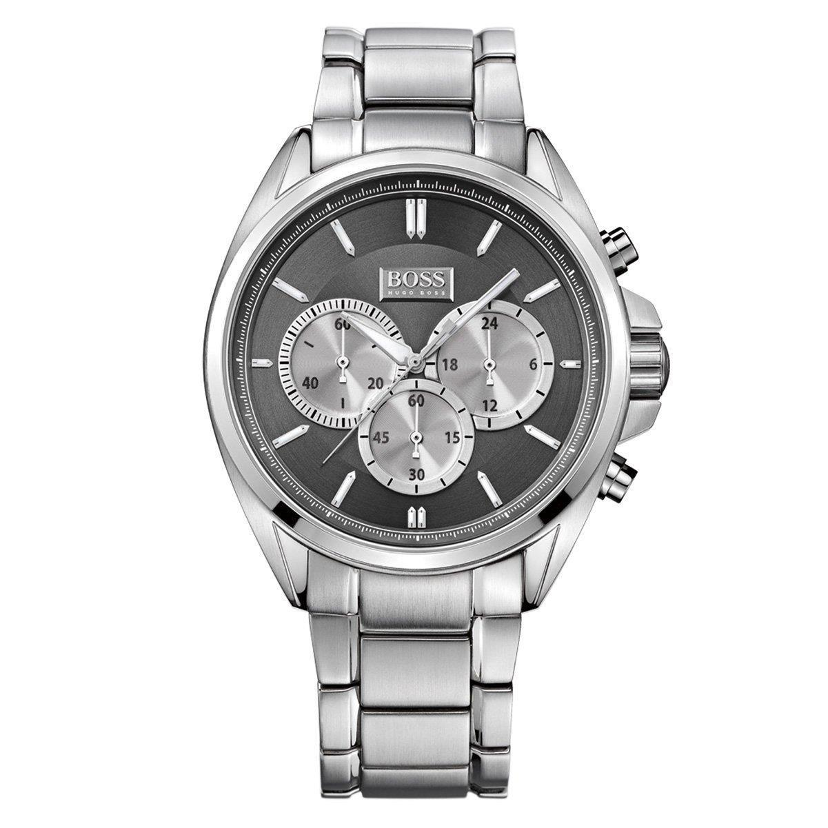 hugo boss gent 39 s stailess steel strap sports chronograph watch hb1512883 sustuu. Black Bedroom Furniture Sets. Home Design Ideas