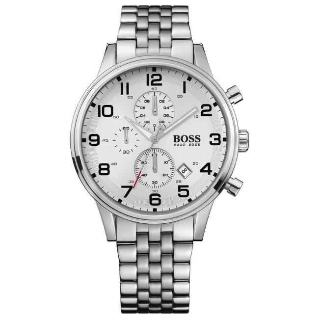 2eeb71218 HUGO BOSS Aeroliner Gent's Stainless Steel Strap Chronograph Watch 1512445  | Sustuu