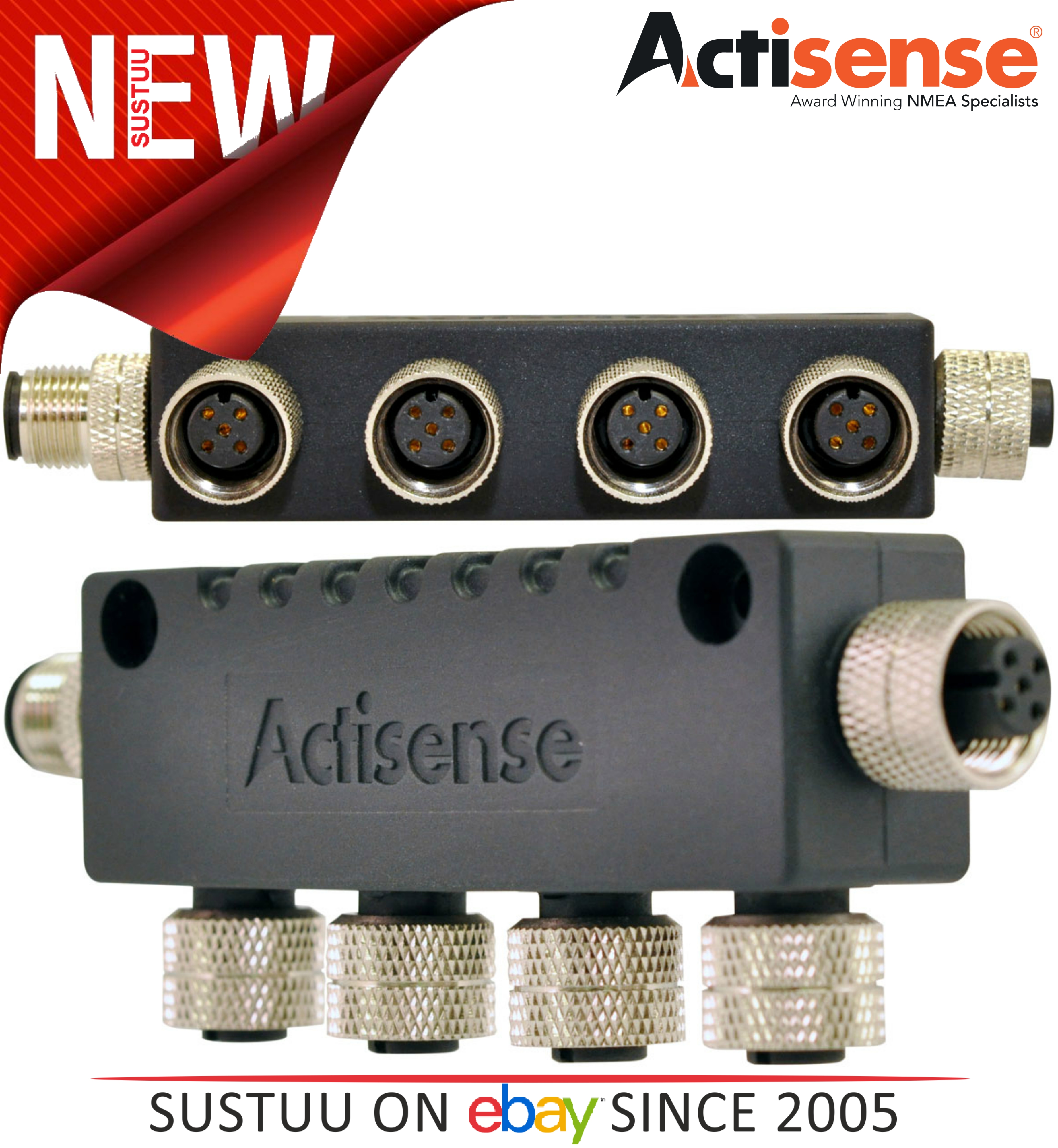Actisense A2K-4WT Compatible With NMEA 2000 (Micro) 4 Way Multidrop T Piece NEW