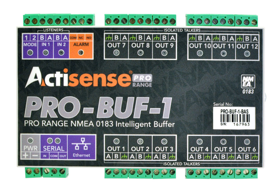 Actisense PRO-BUF-1 Professional NMEA 0183 Buffer - Pluggable Screw Terminals