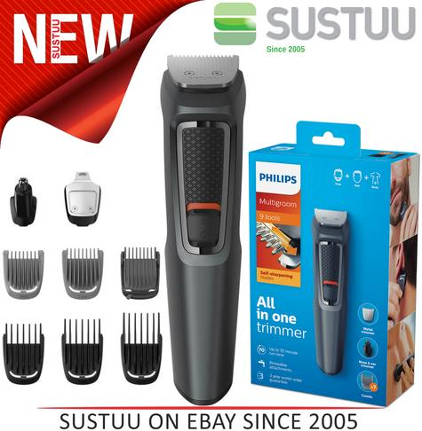 Philips 9 in 1 Multigroom?Face?Nose?Body?Hair?Trimmer Clipper Set?MG3747/13?NEW? Thumbnail 1
