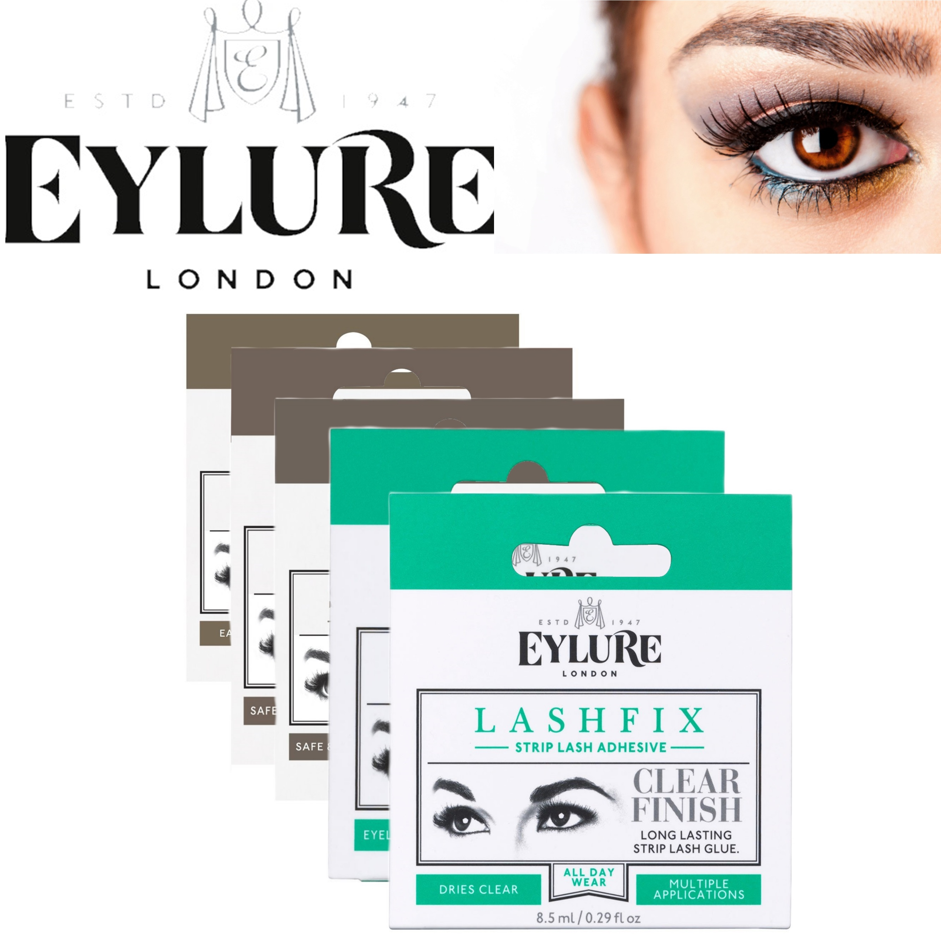 EYLURE Lashfix Ladies Quick Dry Long Lasting False Eye Lash Glue / Glue Remover