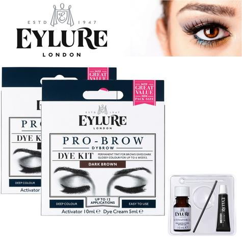 EYLURE Pro Brow Dybrow Ladies Colour Tint Eyebrow Make-Up Dye Kit Mascara Thumbnail 1