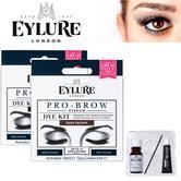 EYLURE Pro Brow Dybrow Ladies Colour Tint Eyebrow Make-Up Dye Kit Mascara