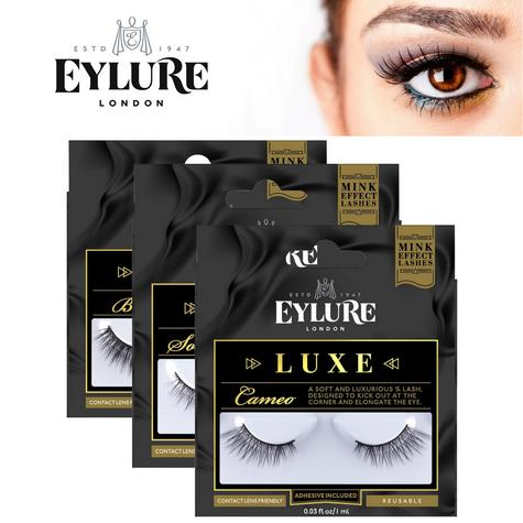 Eylure Luxe Lash Ladies Reusable Adhesive False Eyelashers 100% Cruelty Free NEW Thumbnail 1